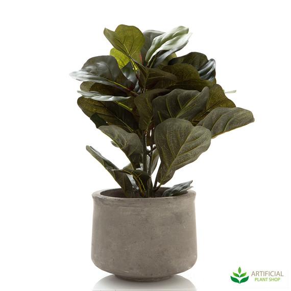 artificial fiddle leaf plant potted 45cm