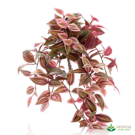 artificial wandering jew bush red and green