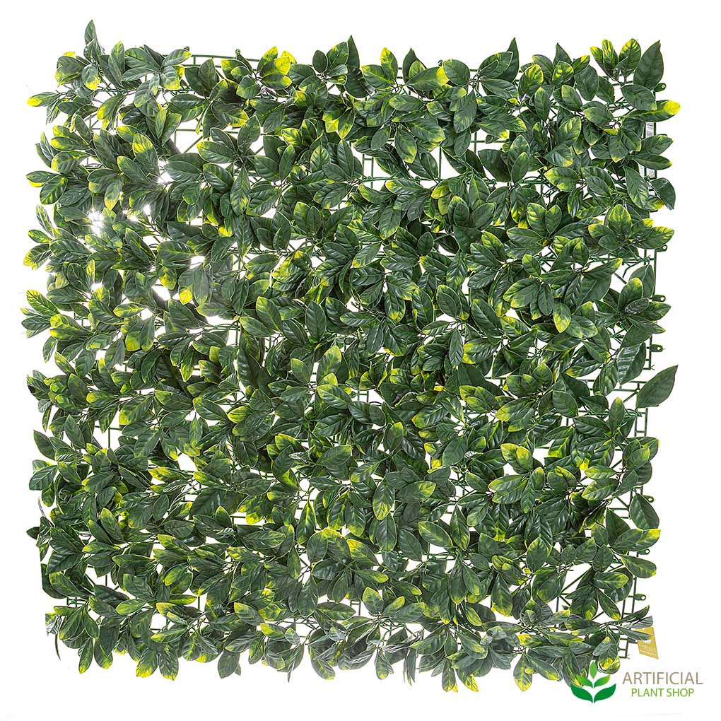 artificial laurel leaf fence 1mx1m