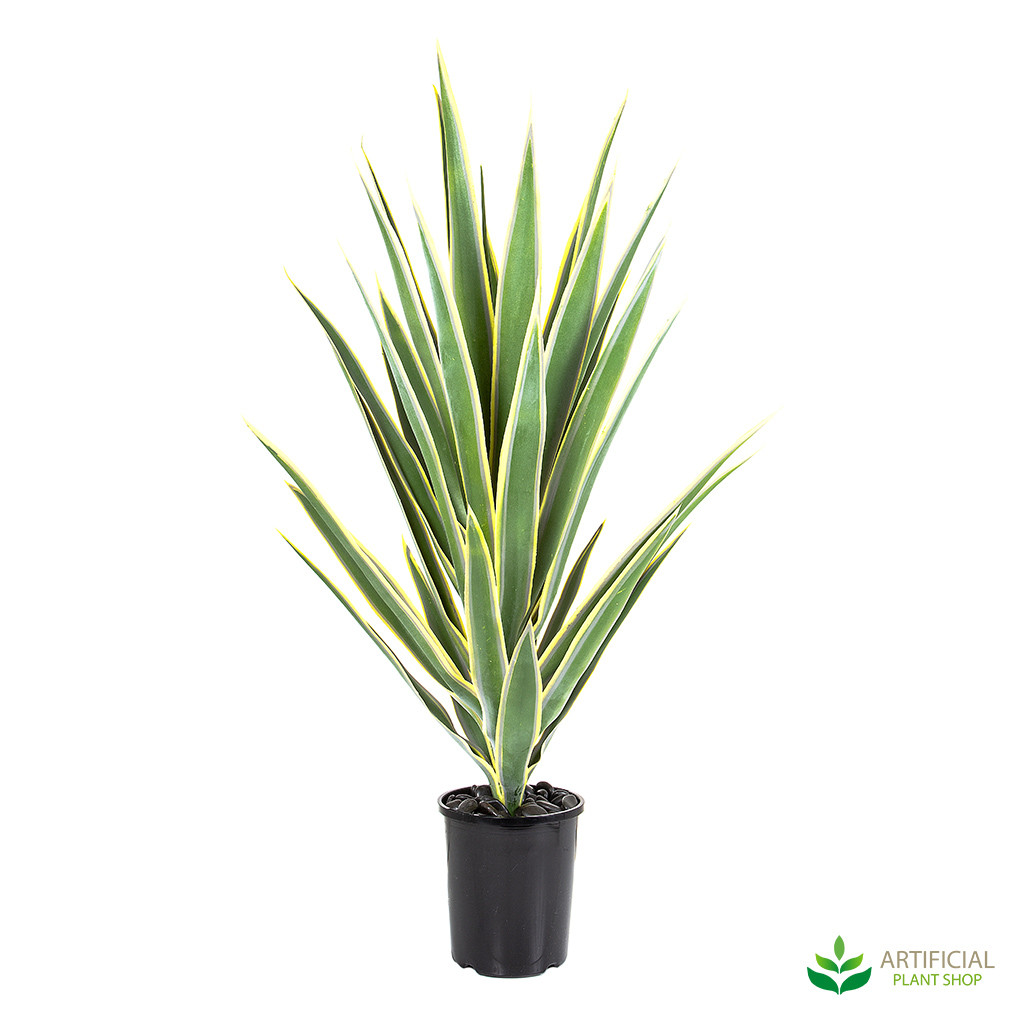 artificial green/yellow Yucca potted