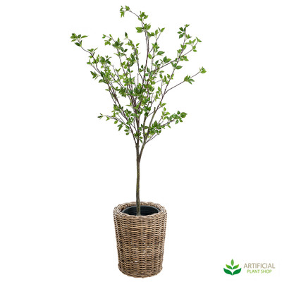 artificial ailanthus in rattan pot 2m