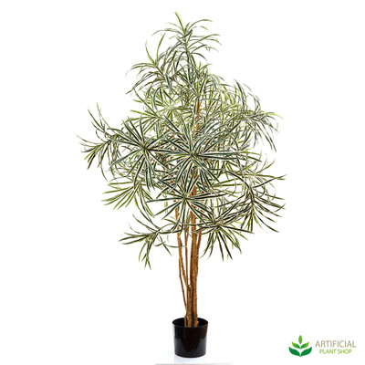 artificial dracena variegated tree 1.2m