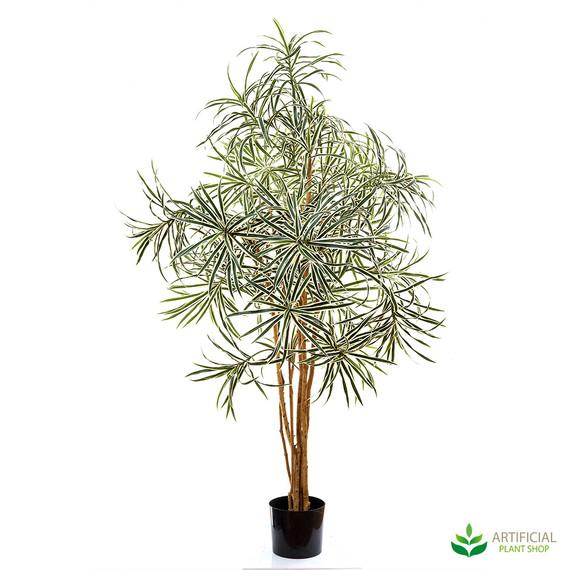 artificial dracena variegated tree 1.2m