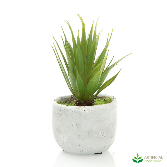 artificial spikey succulent in pot