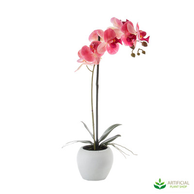 artificial pink orchid pot plant