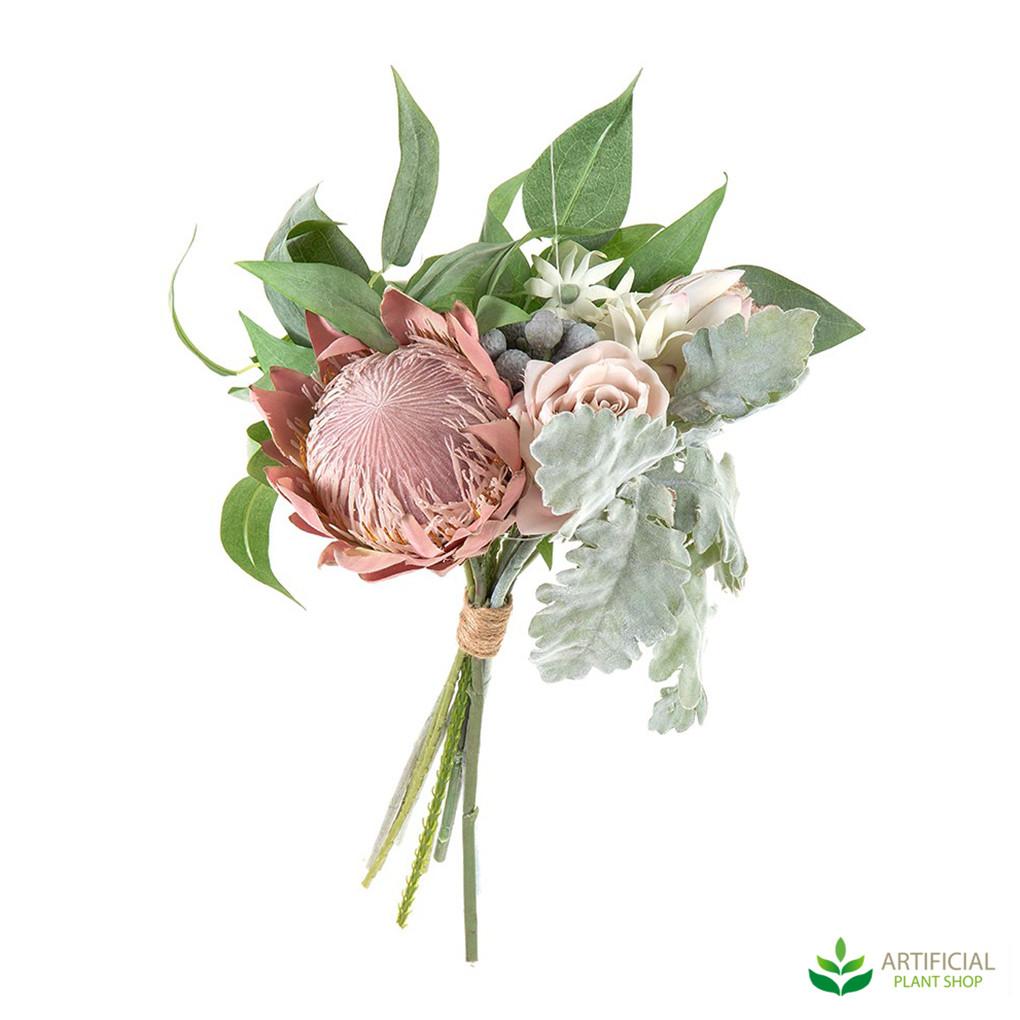 Artificial Protea and Rose Bouquet 40cm