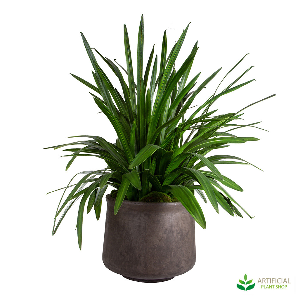 Artificial Orchid leaves potted