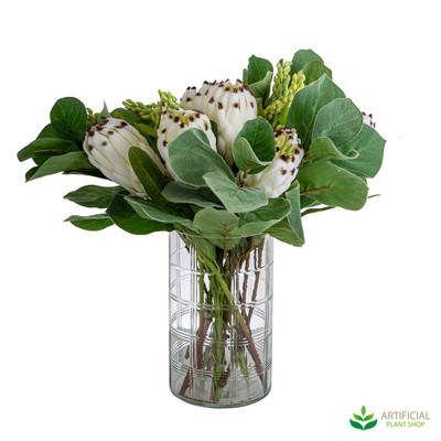 White Protea in Arthur Vase 45cm