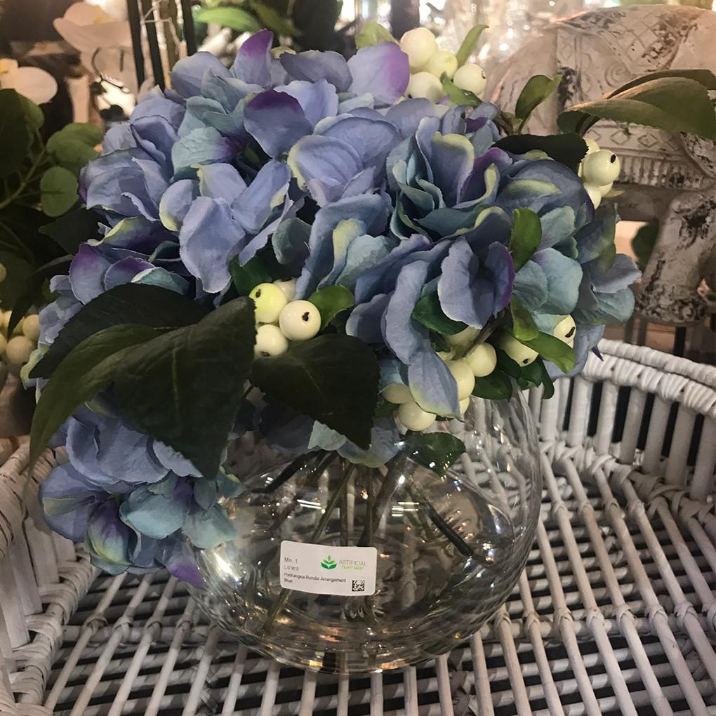 Artificial Blue Hydrangea flowers