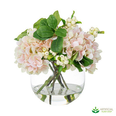 Artificial Link Pink Hydrangea flower arrangement