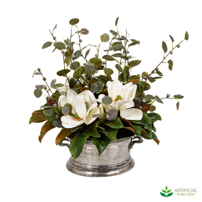 Artificial White Magnolia Flower arrangement