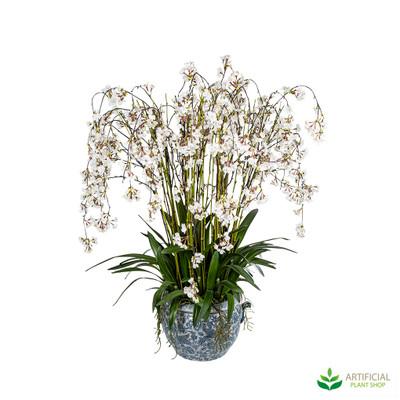 White Blossom Flowers in Aviary Planter 1.2m
