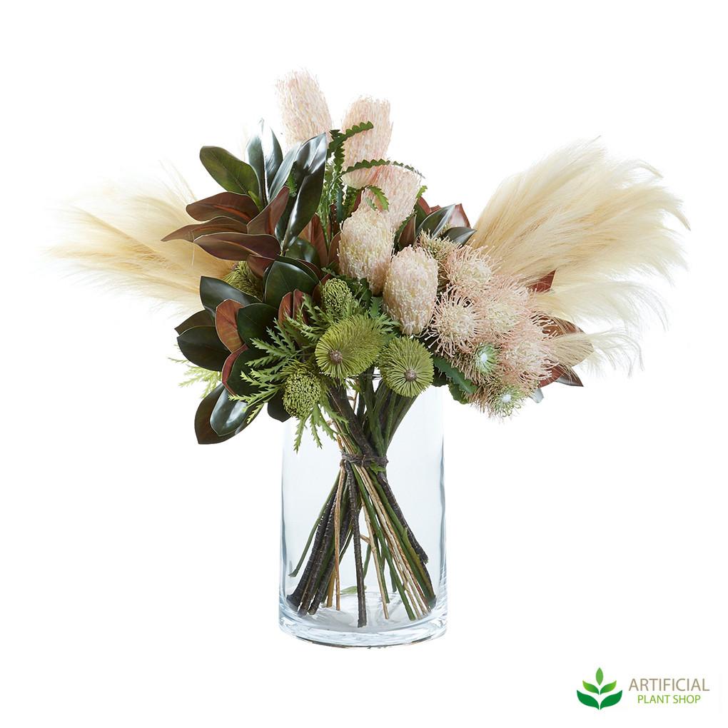 Pampas grass flower arrangement