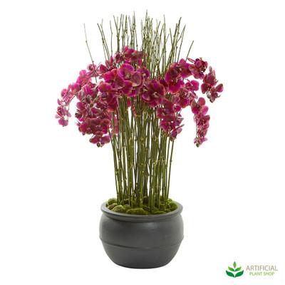 artificial orchid flower arrangement