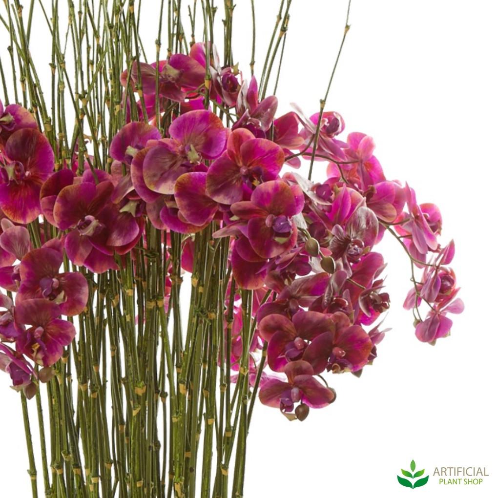 faux orchid flowers
