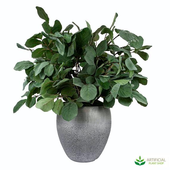 fake greenery in pot