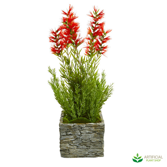 artificial bottle brush plant 66cm