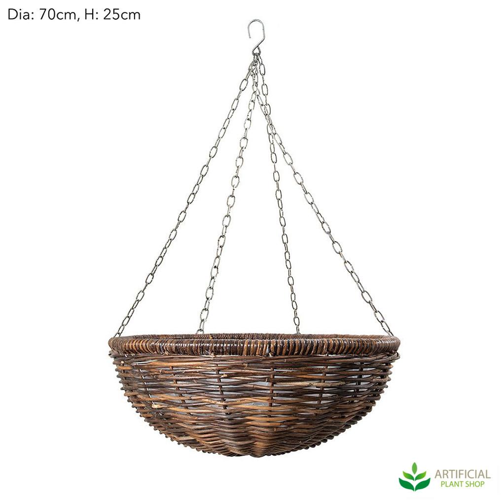 Rattan hanging basket