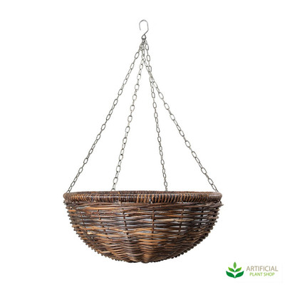 medium sized rattan hanging basket