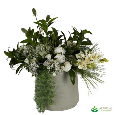 Artificial Flower arrangement in vase