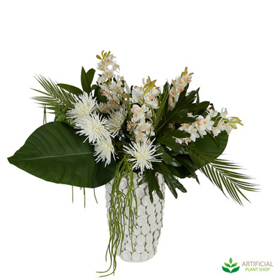 St Lucia Artificial Flower Arrangment in vase