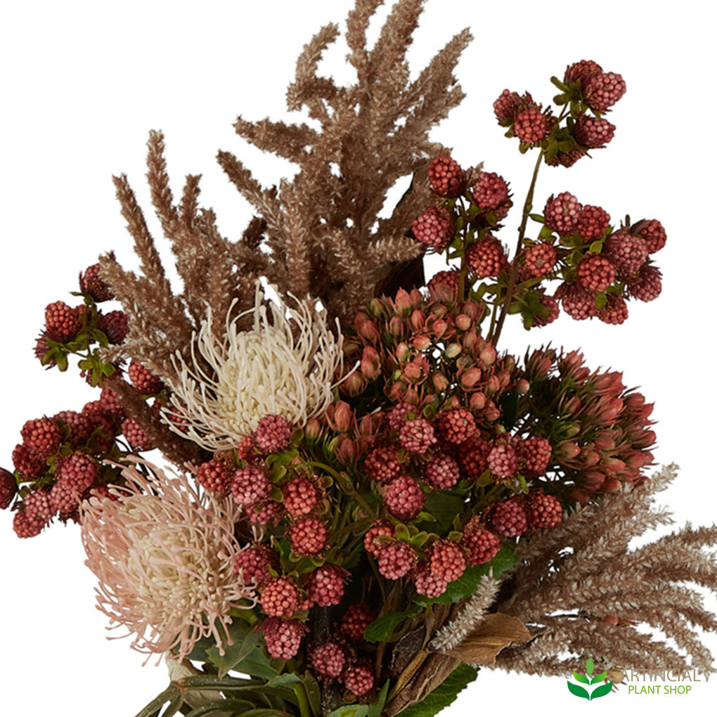 artificial protea flowers