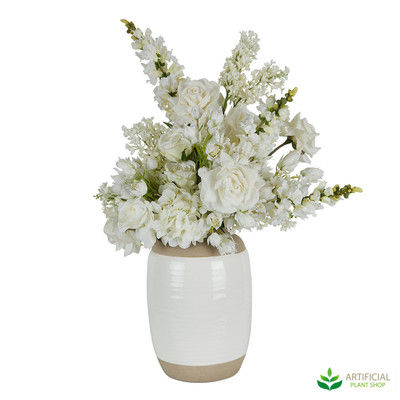 White Artificial Flower Arrangement