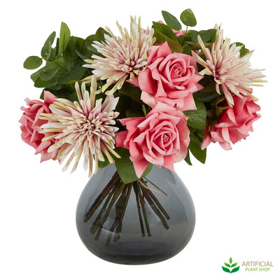 Pink Flower arrangement in vase