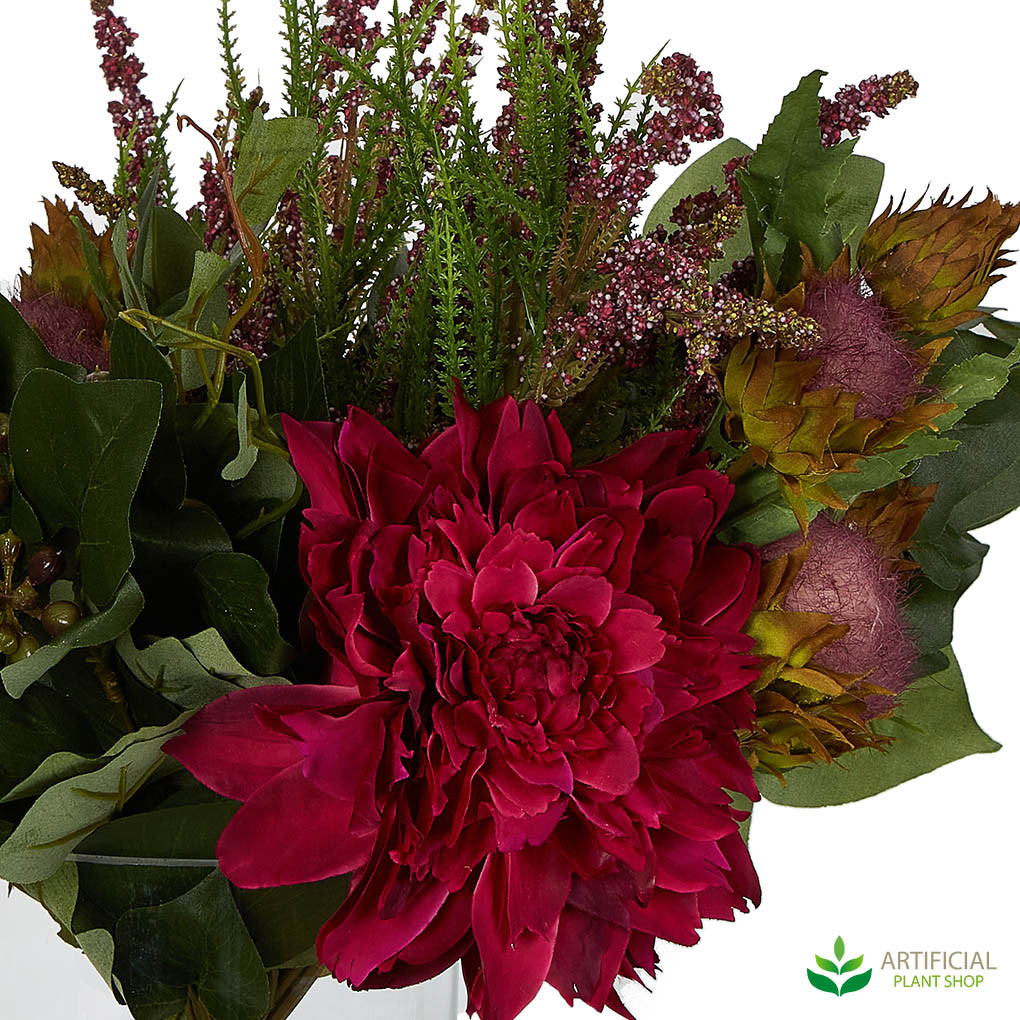 bright red artificial flower