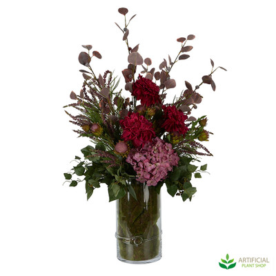 Large Artificial Flower arrangement with vase