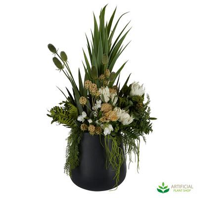 Artificial Mangrove flower arrangement in pot