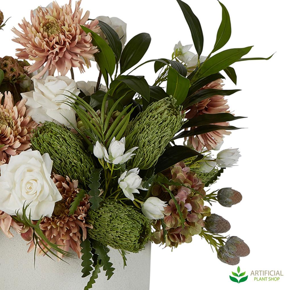 mixed flowers in arrangement