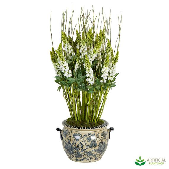 Lupinus White Flower arrangement