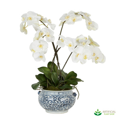 Artificial White orchid plant