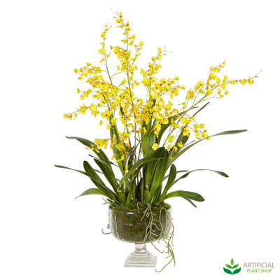 Yellow Dancing Orchid flower arrangment