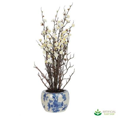 Artificial Cream Blossom Flower arrangment