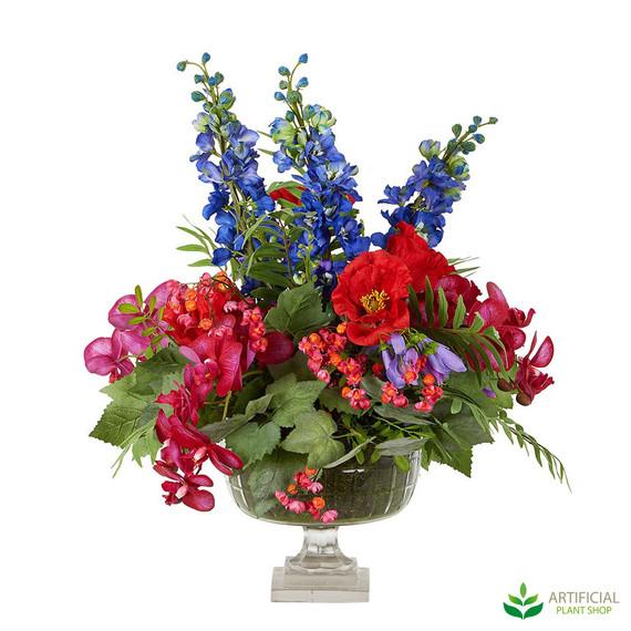 Mixed Faux Flower arrangement