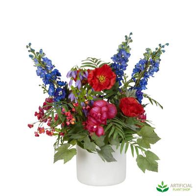 mixed artificial flower arrangement