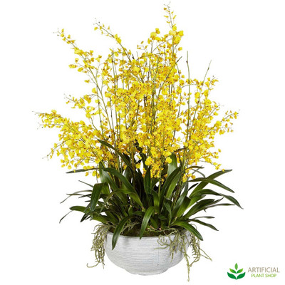 Artificial Yellow dancing Orchid