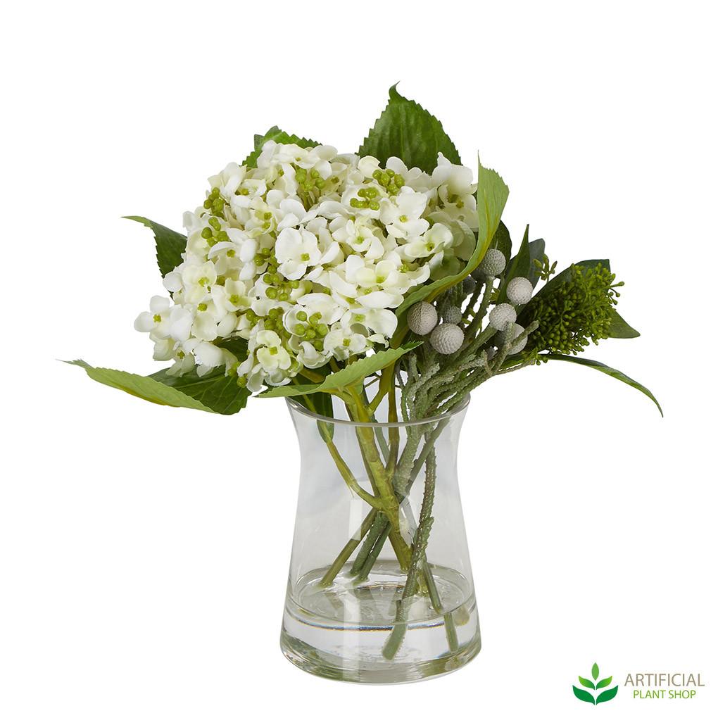 White artificial hydrangea