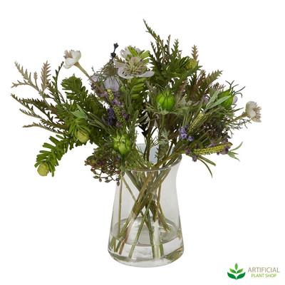 Mixed greenery flower arrangment