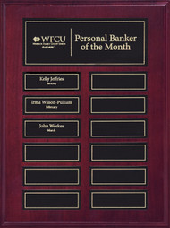 Perpetual Plaque - Mahogany Finish with Magnetic Engraving Plates APT210C-BK - 12 Plates
