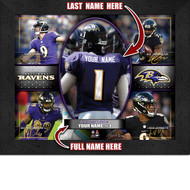 Baltimore Ravens Action Collage Print - Personalized