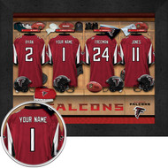 Atlanta Falcons Locker Room Print - Personalized