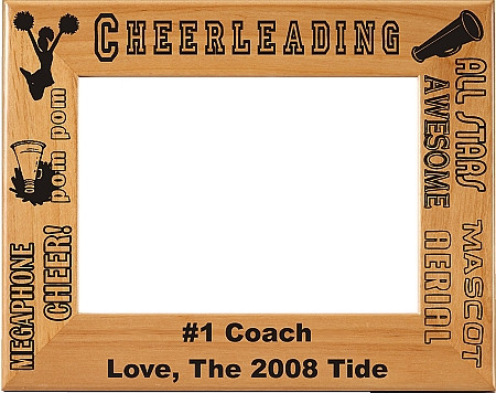 Cheerleading Picture Frame 2 - Personalized