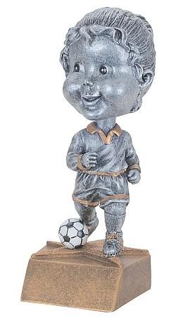Soccer Pewter Bobblehead Trophy - Female / Male | Fútbol Award