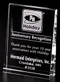 Vertical Wedge Crystal Award  - Medium 6""