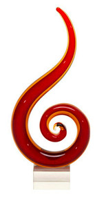Red Fire Sculpted Glass Award