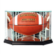 Octagon Football Glass Display Case - Black Trim