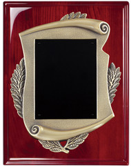 Plaque - Rosewood High Gloss Piano-Finish with Scroll Emblem